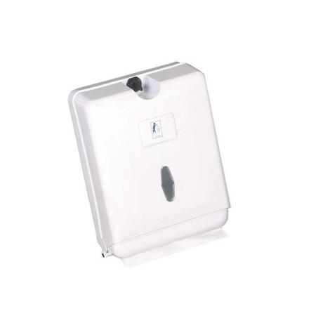 Dispensador toallitas ZIG ZAG plástico blanco