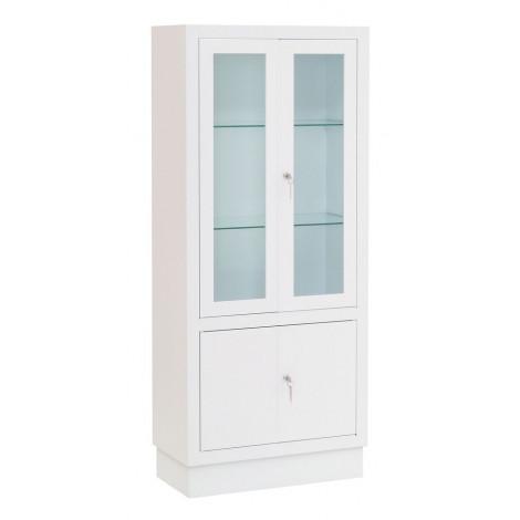 Vitrina - armario clínica, acero pintado, puertas