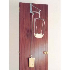 Tracción cervical adaptable puerta con pesa