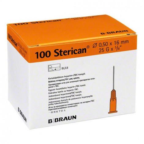"Aguja Sterican 25G x 5/8"" (ø 0.5) x16mm."