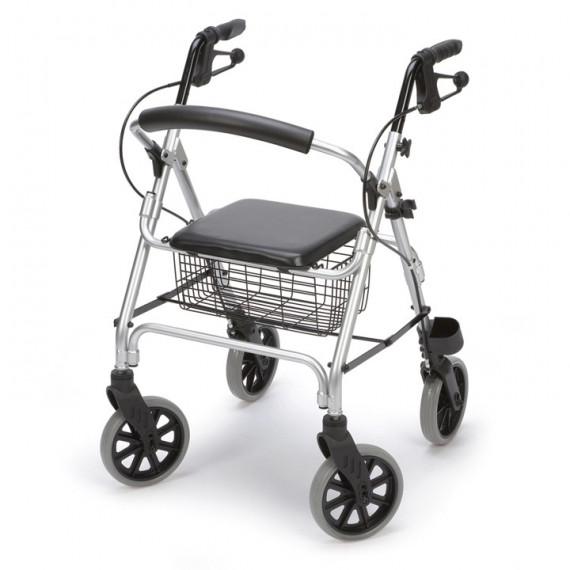 Andador Rollator aluminio ERGO con respaldo