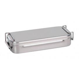 Caja curas acero inox. c asa-cierre 18x8x4cm ref.