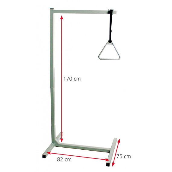 Incorporador trapecio con base, altura 170cm