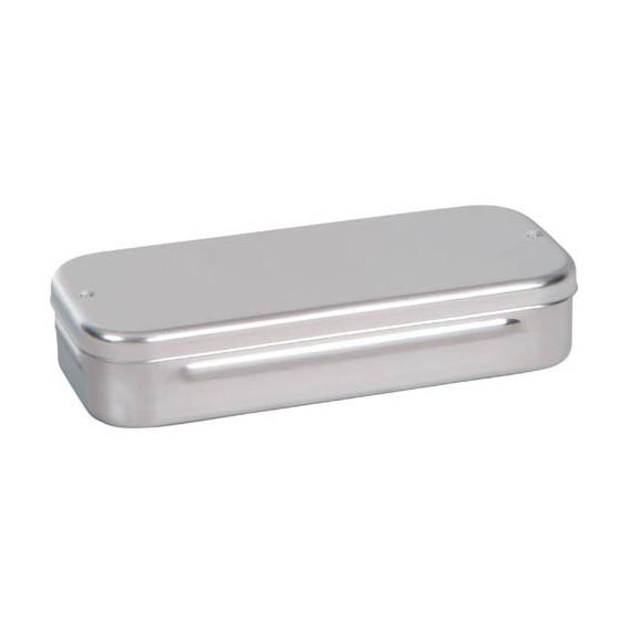 Caja curas acero inox. 18cm