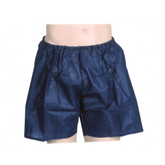 Pantalon corto desechable azul Oscuro - envase ind