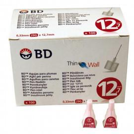 Aguja pluma B.D. Microfine 0.33 x 12.7mm. Caja 100 un.