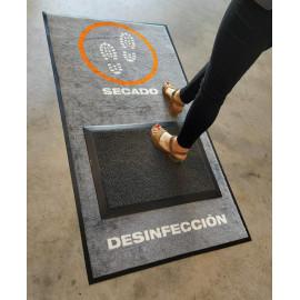 Alfombra Desinfectante + alfombra secado